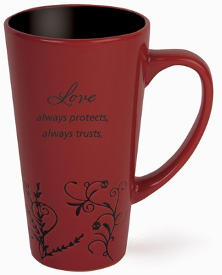 Love Protects Mug, Red  -