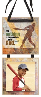 For Nothing is Impossible Photo Plaque  -