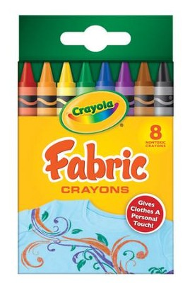 Crayola, Fabric Crayons, 8 Pieces  -