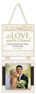 To Love and to Cherish Photo Plaque  -