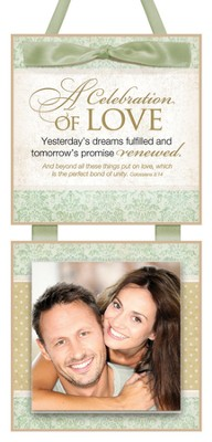 A Celebration of Love Photo Plaque  -