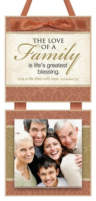 The Love of a Family Photo Plaque  -