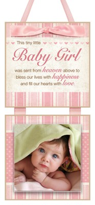 This Tiny Little Baby Girl Photo Plaque  -