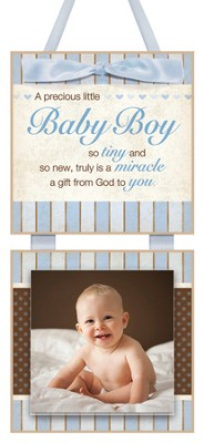 This Tiny Little Baby Boy Photo Plaque  -