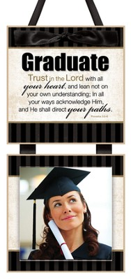 Graduate, Trust in the Lord Photo Plaque  -