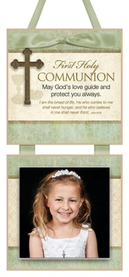 First Communion Photo Plaque  -