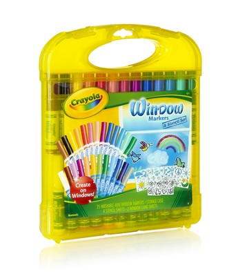 Crayola, Window Markers and Stencil Set   -