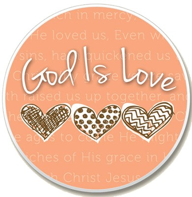 God is Love Auto Coaster  -