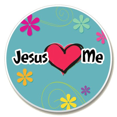 Jesus Loves Me Auto Coaster  -