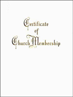 Traditional Steel-Engraved Church Membership Certificate: French Script  -