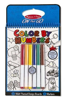 Color By Numbers, On the Go Activity, Blue  -