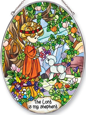 The Lord is My Shepherd Oval Suncatcher, Precious Moments  -