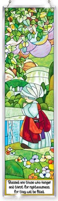 Blessed Are Those Who Hunger Window Panel Suncatcher, Precious Moments  -