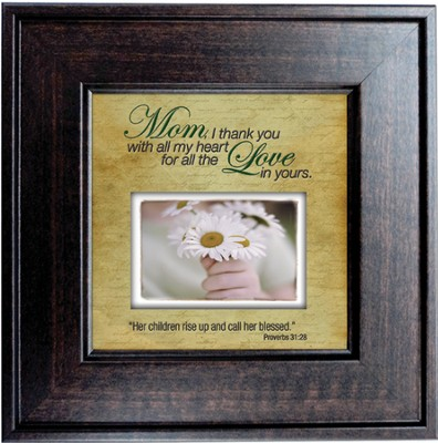 Mom, Thank You with All My Heart Framed Print  -