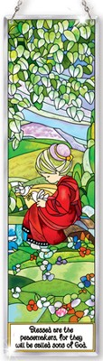 Blessed Are the Peacemakers Window Panel Suncatcher, Precious Moments  -