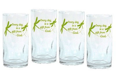 Every Day is a Gift From God, Set of 4 Drinking Glasses  -