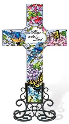 Hope in The Lord Cross Suncatcher  -     By: Sandy Clough