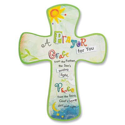 A Prayer for You, Kid's Faith Cross Plaque  -