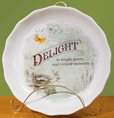 Delight is Simple Graces Pie Plate   -