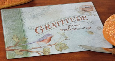 Gratitude Grows Fresh Blessings Cutting Board  -