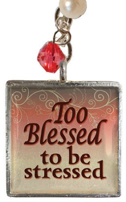 Too Blessed to be Stressed Necklace   -