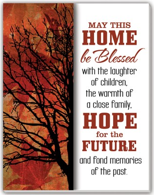 May This Home Be Blessed Glass Plaque  -
