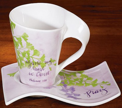 Refresh My Heart Mug and Tray Set   -     By: Susan Sowell