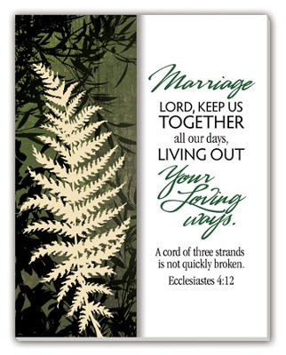 Marriage, God Keep Us Together Glass Plaque  -