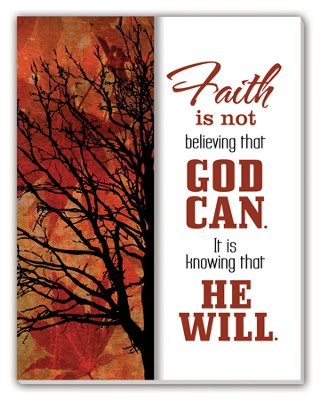 Faith is Not Believing that God Can Glass Plaque  -