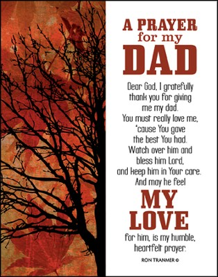 Prayer for My Dad Glass Plaque  -