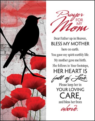 Prayer for My Mom Glass Plaque  -