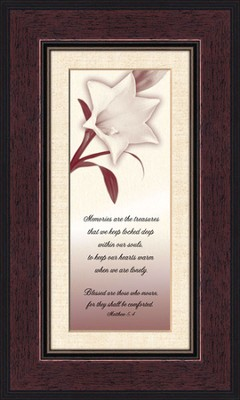 Comforting Thoughts, In Memory , Matthew 5:4, Framed Print  -