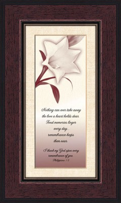Comforting Thoughts, Remembrance , Philippians 1:3, Framed Print  -