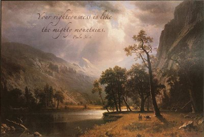 Your Righteousness Is Life the Mighty Mountains Framed Art  -     By: Albert Bierstadt