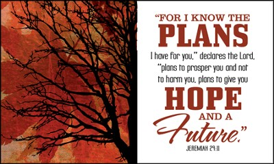 For I Know the Plans Glass Plaque  -