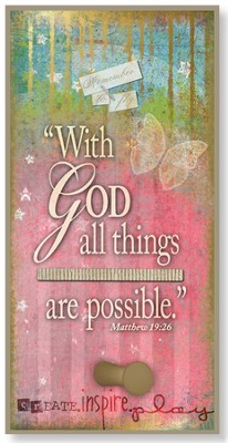 With God All Things are Possible Hook Plaque  -