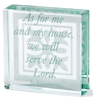 Glass Block As for Me and My House Joshua 24:15  -