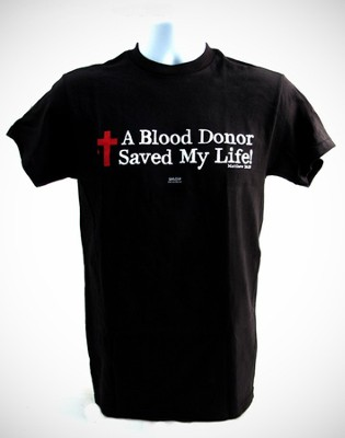 A Blood Donor Shirt, Black, Large  -