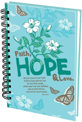 Faith Hope Love Wirebound Journal  -