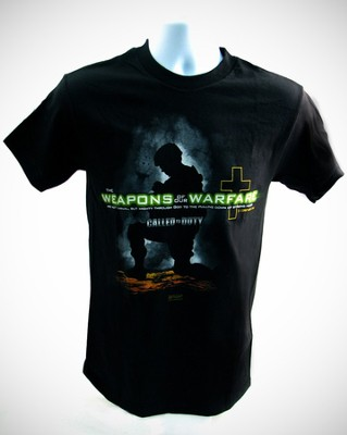 Weapons of Our Warfare Shirt, Black, Large  -
