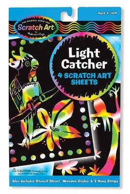 Light Catcher Scratch Art Sheets  -