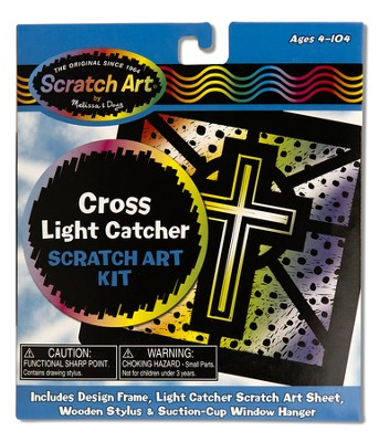 Cross Light Catcher, Scratch Art Kit  -