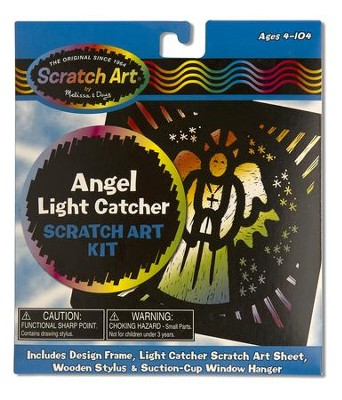 Angel Light Catcher, Scratch Art Kit  -