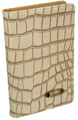 Faith, Croc Embossed Journal, Tan  -