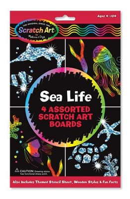 Sea Life Scratch Art  -