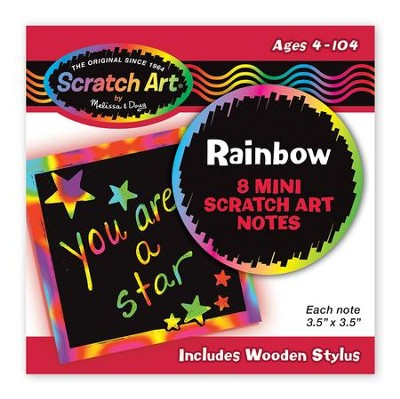 Rainbow Scratch Art Mini Notes  -
