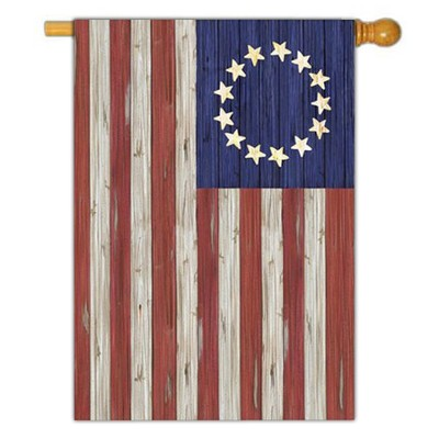 Betsy Ross Rustic Flag, Large  -     By: MaryLou Troutman