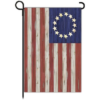Betsy Ross Rustic Flag, Small  -     By: MaryLou Troutman