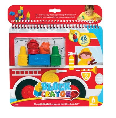 Fire Truck, Coloring Book and Block Crayons  -