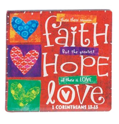 Faith, Hope, Love Magnet  -